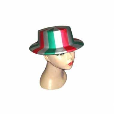 Italie hoeden plastic