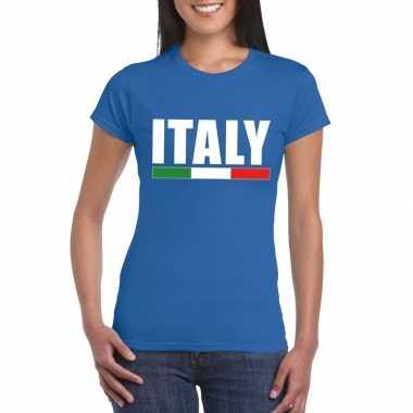 Italie supporter shirt blauw dames