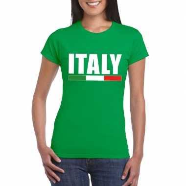 Italie supporter shirt groen dames