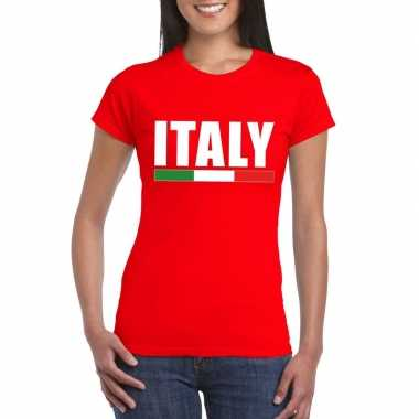 Italie supporter shirt rood dames