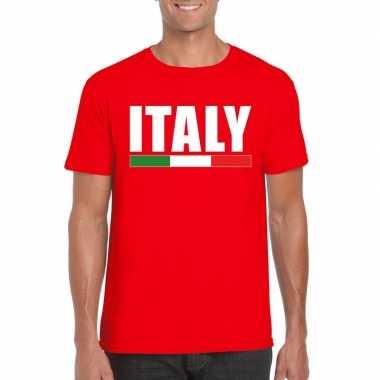 Italie supporter shirt rood heren