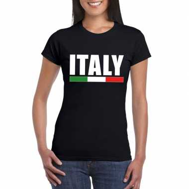 Italie supporter shirt zwart dames