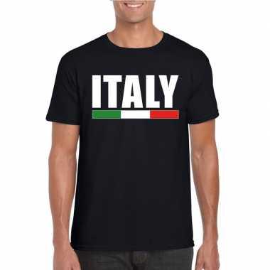 Italie supporter shirt zwart heren