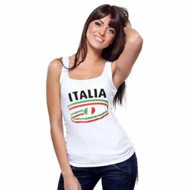 Italie tanktop voor dames met vlaggen print