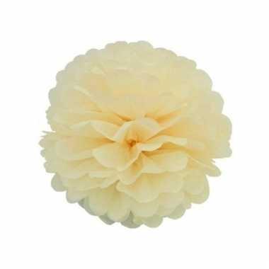 Ivoor witte decoratie pompoms 35 cm