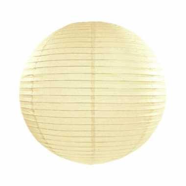 Ivoorkleurige lampion rond 25 cm