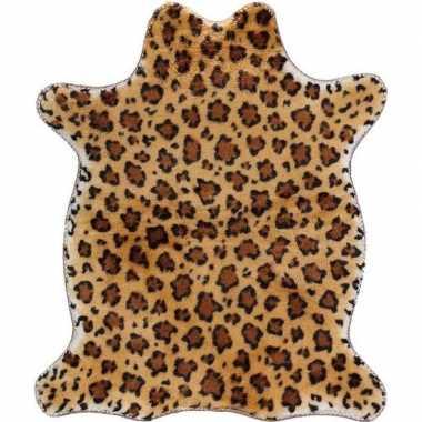Jachtluipaard pluche namaak dierenvel kleed 90 cm