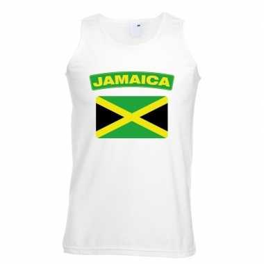 Jamaica vlag mouwloos shirt wit heren
