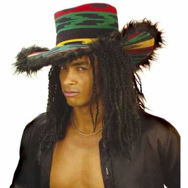 Jamaicaanse hoed met pluche voor volwassenen