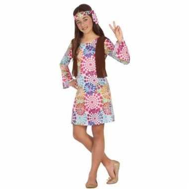 Jaren 60 hippie verkleedjurk voor meisjes