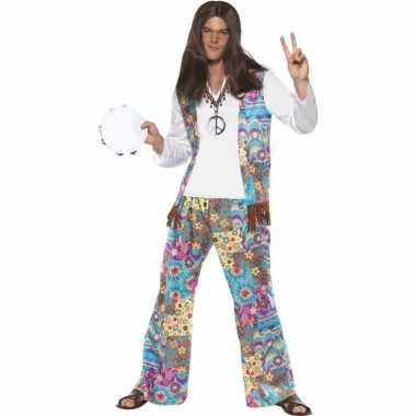 Jaren 60 hippie verkleedkleding voor heren