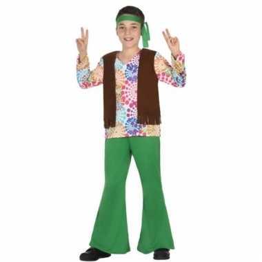 Jaren 60 hippie verkleedoutfit voor jongens