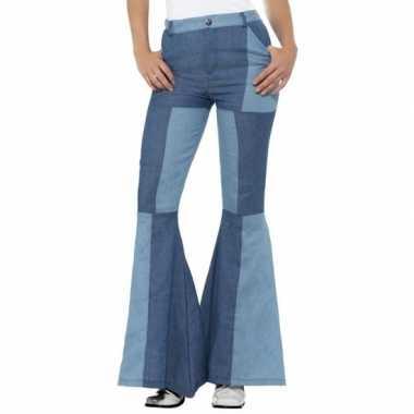 Jaren 60 sixties verkleed broek blauw voor dames
