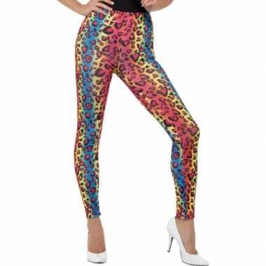 Jaren 80 luipaard legging