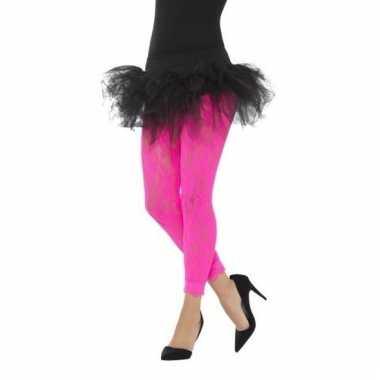 Jaren 80 panty roze kant voor dames