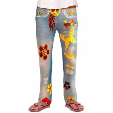 Jeans kinder legging flower power