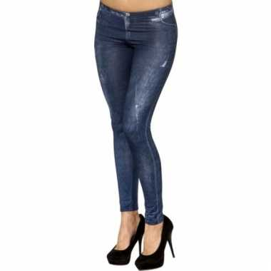 Jeans print legging voor dames