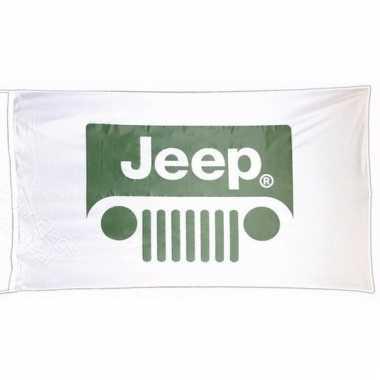 Jeep vlag wit 150 x 90 cm