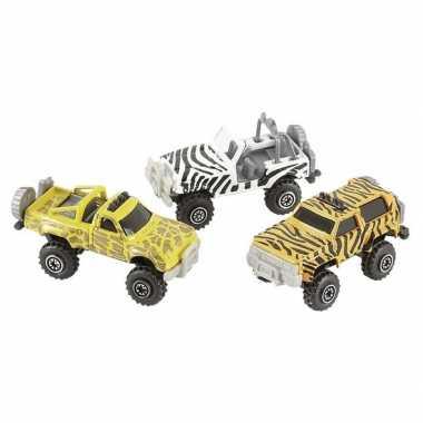 Jeepsafari speelgoed auto giraf print