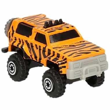 Jeepsafari speelgoed auto tijger print