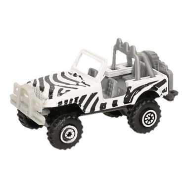 Jeepsafari speelgoed auto zebra print