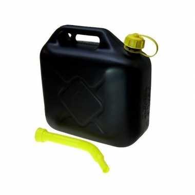 Jerrycan 10 liter met schenktuit zwart