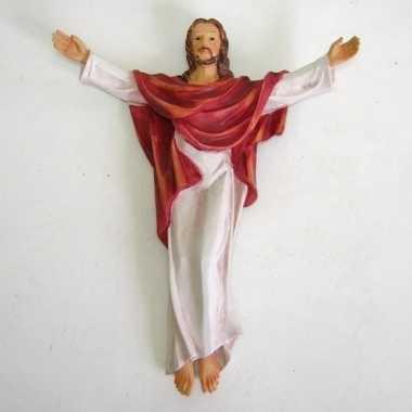 Jezus christus kruisbeeldje voor aan de muur