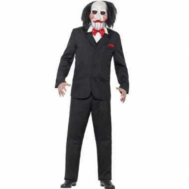 Jigsaw horror kostuum voor heren