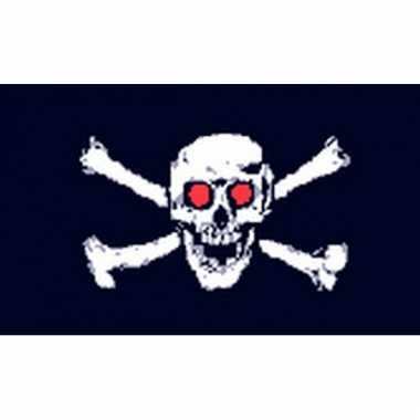 Jolly roger eyes vlag piraat