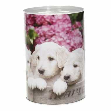Jonge honden spaarpot 15 cm type 1