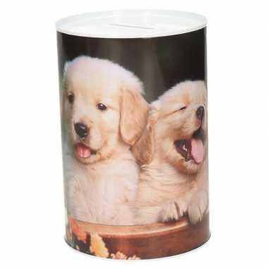 Jonge honden spaarpot 15 cm type 3