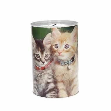 Jonge poezen/katten spaarpot 15 cm type 1