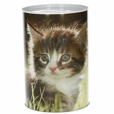 Jonge poezen/katten spaarpot 15 cm type 2