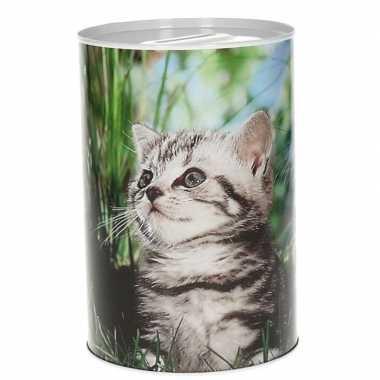 Jonge poezen/katten spaarpot 15 cm type 3