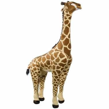 Jumbo pluche giraffe knuffeldier bruin 150 cm
