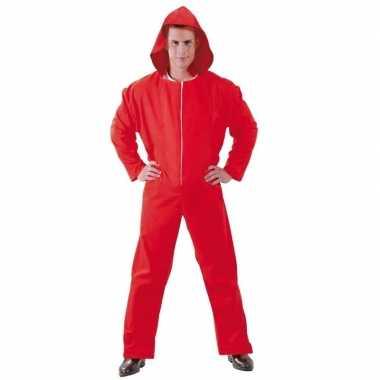 Jumpsuit papel rood voor heren