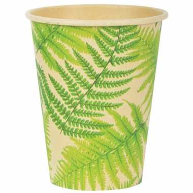 Jungle thema bekers 350 ml 10 stuks
