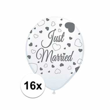 Just married versiering balonnen 16 st
