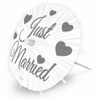 Just married versiering parasols