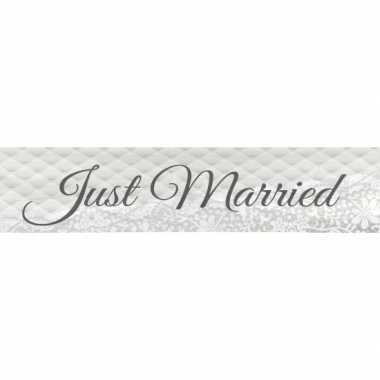 Just married versiering spandoek 360 cm