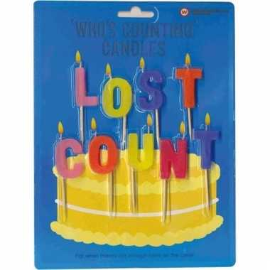 Kaarsjes voor verjaardagstaart lost count voor volwassenen