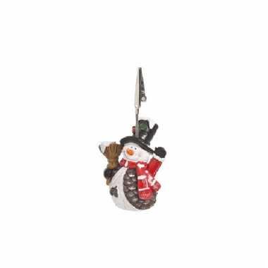 Kaartenhouder sneeuwpop 11 cm type 1