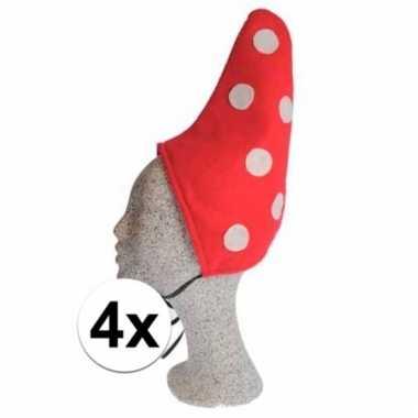 Kabouter kindermuts met stippen 4x