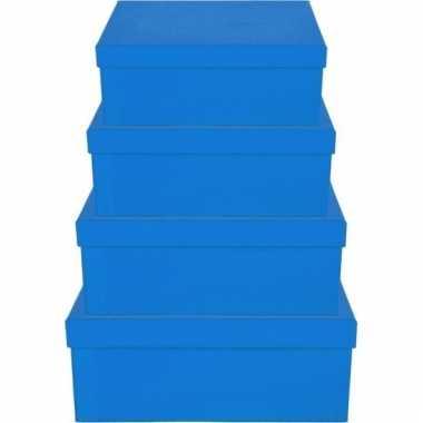 Kado doosjes blauw 17 cm rechthoek