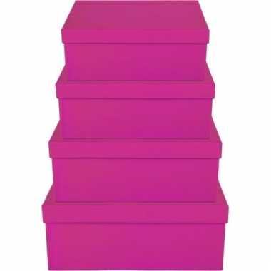 Kado doosjes roze 19 cm rechthoek