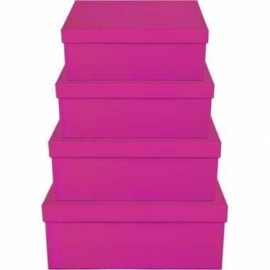 Kado doosjes roze 8 cm rechthoek