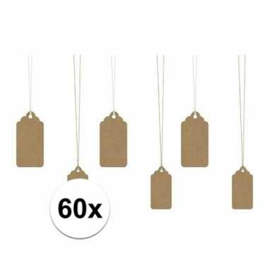 Kado labels bruin 60 stuks