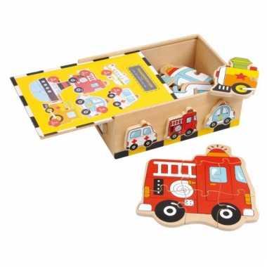 Kado voor jongens voertuigen puzzel