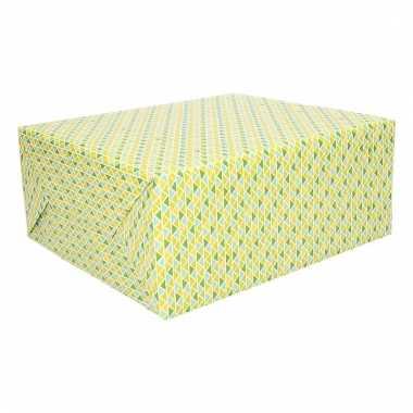 Kadopapier diverse driehoekjes 70 x 200 cm