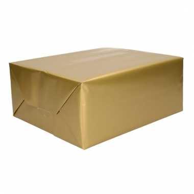Kadopapier gouden 70 x 200 cm